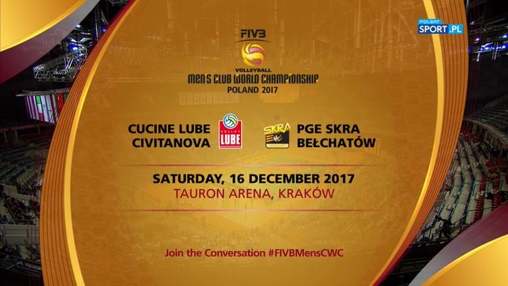 KMŚ 2017: PGE Skra Bełchatów - Cucine Lube Civitanova 0:3. Skrót meczu