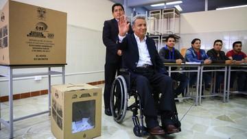 03-04-2017 05:36 Prezydent poruszający się na wózku inwalidzkim. Socjalista Lenin Moreno wygrał wybory w Ekwadorze