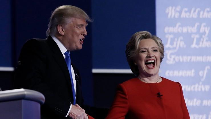 Clinton zadowolona z debaty, Trump robi dobrą minę do złej gry