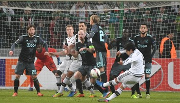 2017-02-23 Ajax - Legia: Kibice z Amsterdamu pewni zwycięstwa swojej drużyny
