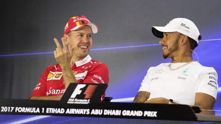 Vettel i Hamilton dyktowali tempo na treningach w Abu Zabi