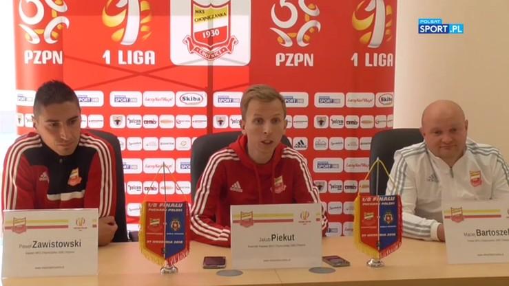 Konferencja Chojniczanki przed meczem z Wisłą Kraków