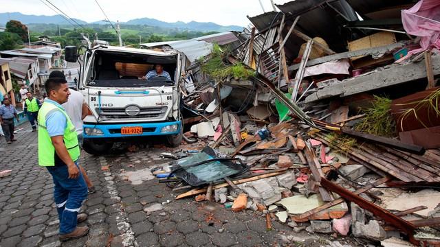 Ekwador: 233 ofiary śmiertelne sobotniego trzęsienia ziemi