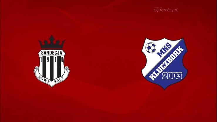 2015-10-05 Sandecja Nowy Sącz - MKS Kluczbork 1:2. Skrót meczu