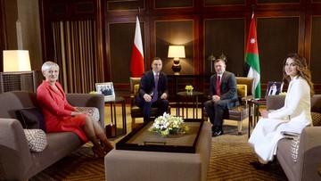 """06-11-2016 13:25 """"Jordania krajem zbliżonym sojuszniczo do UE i NATO"""". Duda spotkał się z królem Abdullahem II"""