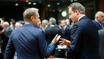 """18-12-2015 05:30 """"Moment rozstrzygający"""". Tusk i Cameron optymistami po rozmowach o pozostaniu Wielkiej Brytanii w UE"""