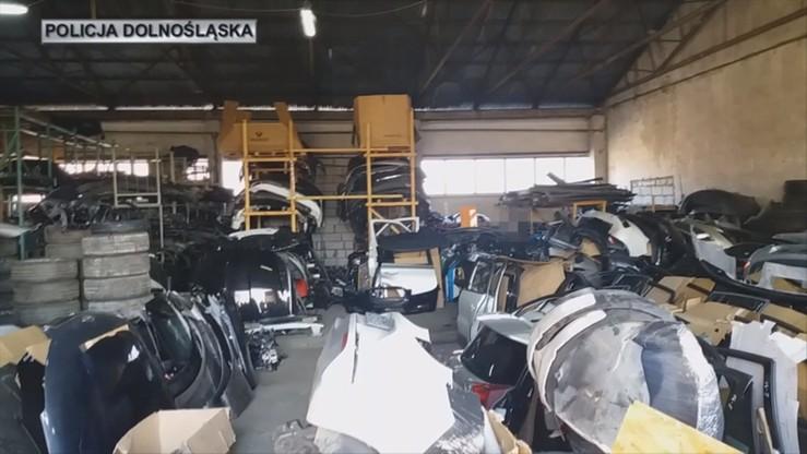 """Części za 1,5 mln zł ze skradzionych samochodów - zlikwidowano złodziejską """"dziuplę"""""""