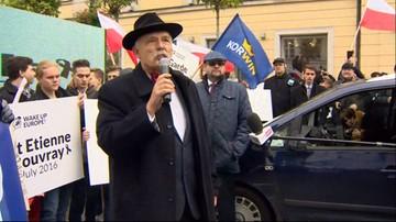 """08-10-2016 13:50 Korwin-Mikke """"budzi Europę"""". Marsz Wolności i Suwerenności w Warszawie"""