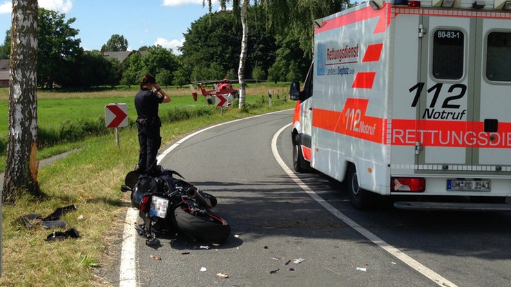 Filmował umierającego motocyklistę zamiast mu pomóc. Przeszkadzał również w akcji ratunkowej