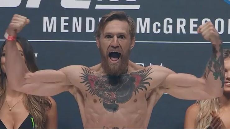 UFC: McGregor show, ale na razie tylko na ważeniu