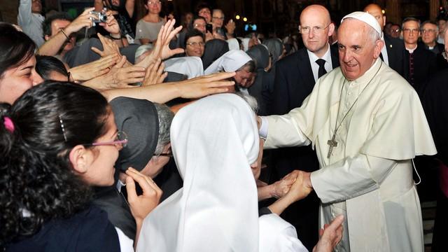 Papież spotkał się w Turynie na obiedzie ze swymi włoskimi krewnymi