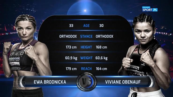 Ewa Brodnicka - Viviane Obenauf. Skrót walki