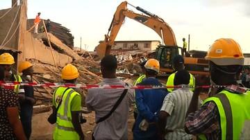 19-05-2017 14:17 Zawalił się wielopiętrowy budynek w Nigerii. Są ofiary i ranni