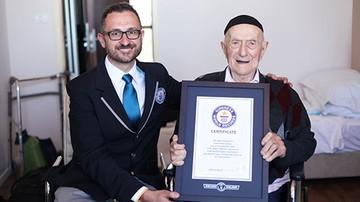 11-03-2016 21:28 Najstarszy mężczyzna na świecie urodził się w Żarnowie. Przeżył Auschwitz