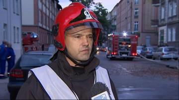 W środku nocy wybuchł pożar w kamienicy w Poznaniu
