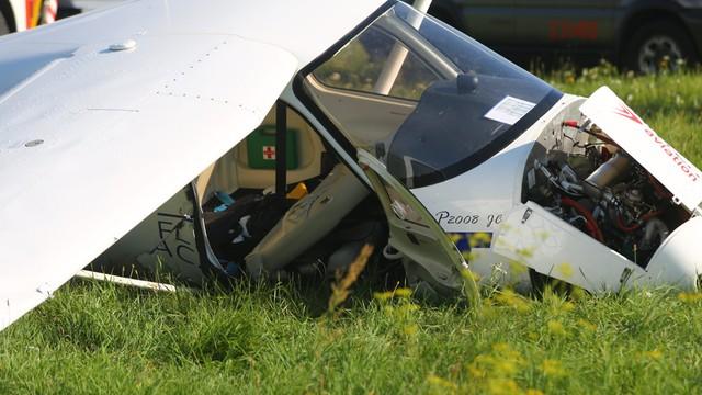 Łódzkie: rozbita awionetka - dwie osoby ranne