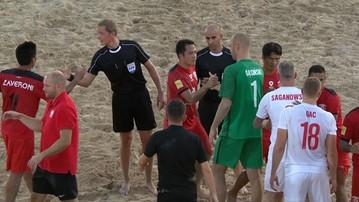 2016-11-01 Beach soccer: Polska przegrała z wicemistrzami świata. Piękny gol Sagana