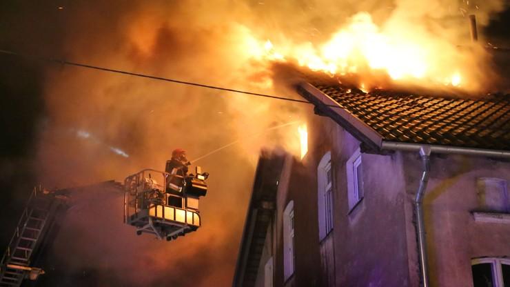 Pożar budynku mieszkalnego w Olsztynie