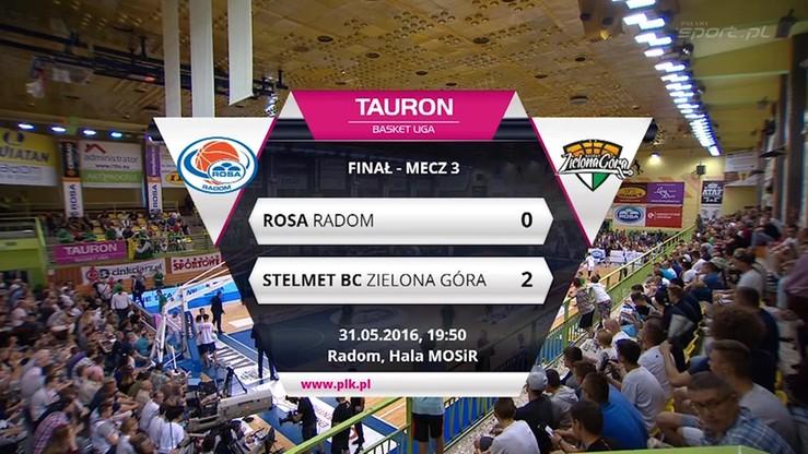 Rosa Radom - Stelmet BC Zielona Góra 53:65. Skrót meczu