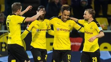 2015-11-29 Aubameyang ucieka Lewandowskiemu. Borussia Dortmund rozbiła drużynę Tytonia