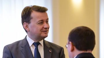 """""""Grożą im kary finansowe, a nawet więzienie"""". Błaszczak o posłach okupujących Sejm"""