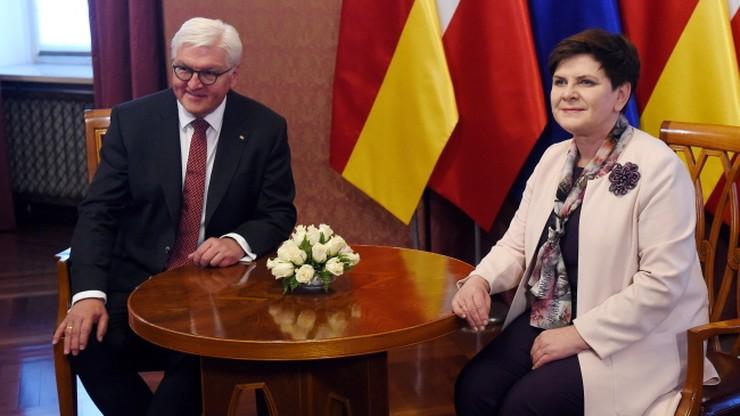 Premier Szydło z prezydentem Niemiec m.in. o przyszłości UE