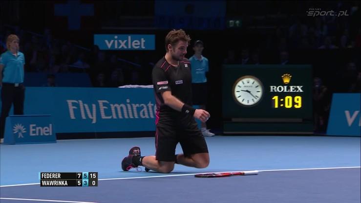2015-11-21 Federer rzucił Wawrinkę na kolana