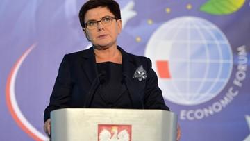 """05-09-2017 21:54 """"Polski kapitał jest solą naszej gospodarki"""". Premier na Forum Ekonomicznym w Krynicy"""