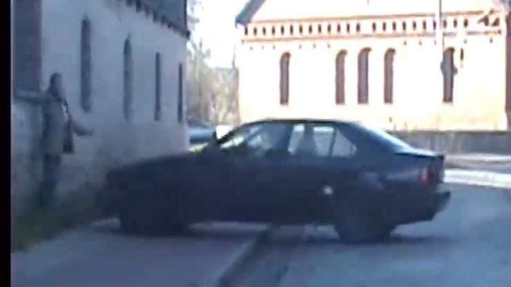 Ostro testował samochód: o mało nie przejechał pieszego