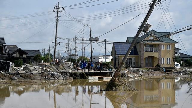 Japonia: 25 osób zaginionych po powodzi na wschodzie kraju