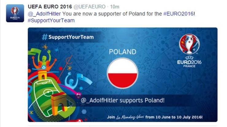 Polskę na Euro 2016 wspierać będzie... Adolf Hitler? UEFA przeprasza