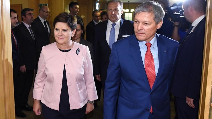 Szydło po rozmowach z premierem Rumunii: naszym celem wzmacnianie UE