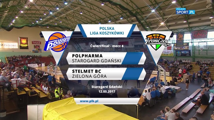 Polpharma Starogard Gdański - Stelmet BC Zielona Góra 74:77. Skrót meczu