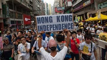 01-07-2016 13:26 Antyrządowa demonstracja w Hongkongu. W rocznicę przyłączenia do Chin
