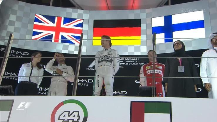 F1: Dekoracja i konferencja po GP Abu Zabi
