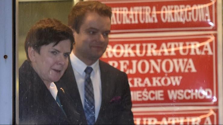 Premier Beata Szydło już po przesłuchaniu ws. wypadku. Trwało 3 godziny
