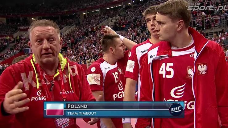 Biegler cały czas żyje meczem. Żywiołowe reakcje trenera Polaków