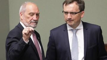 """25-07-2017 10:20 Macierewicz określił działania opozycji jako rodzaj  """"wojny hybrydowej"""". """"Nie cofniemy się"""""""