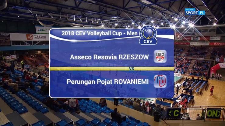 Asseco Resovia – Perungan Pojat Rovaniemi 3:0. Skrót meczu
