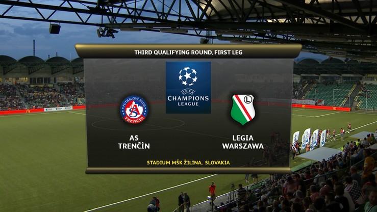 2016-07-27 AS Trencin - Legia Warszawa. Skrót meczu (WIDEO)