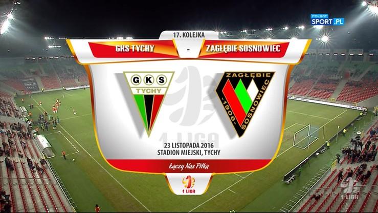 GKS Tychy - Zagłębie Sosnowiec 3:0. Skrót meczu