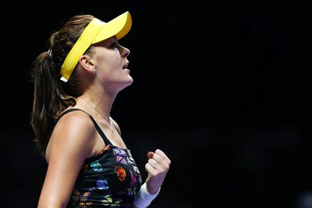 WTA Masters: Radwańska wygrała z Kvitovą