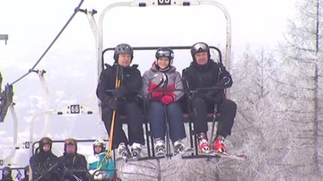 Premier Szydło na nartach w Przemyślu