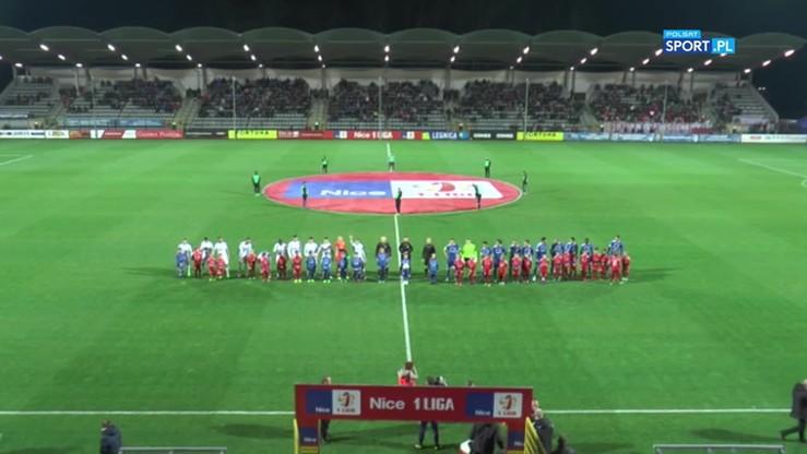 Miedź Legnica - Puszcza Niepołomice 2:2. Skrót meczu