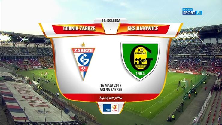 Górnik Zabrze - GKS Katowice 1:0. Skrót meczu