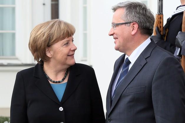 Prezydent Komorowski rozmawiał z kanclerz Niemiec