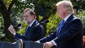 """""""Jestem za zjednoczoną Hiszpanią"""". Trump sprzeciwia się referendum w Katalonii"""