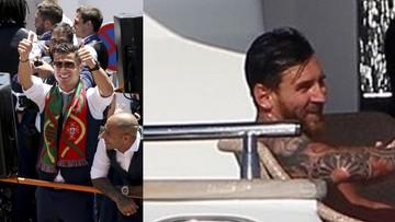 14-07-2016 07:49 Ronaldo na swoim jachcie, Messi na swoim. Dzieli ich kilka metrów