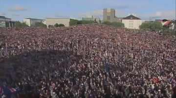 Euro 2016: Reykjavik świętuje! Gorące powitanie islandzkich piłkarzy