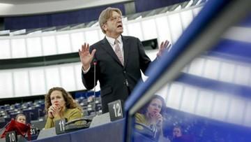 """29-11-2017 19:48 """"Negocjacje utknęły w martwym punkcie, a nawet cofnęły się"""". Verhofstadt pisze do Barniera ws. Brexitu"""